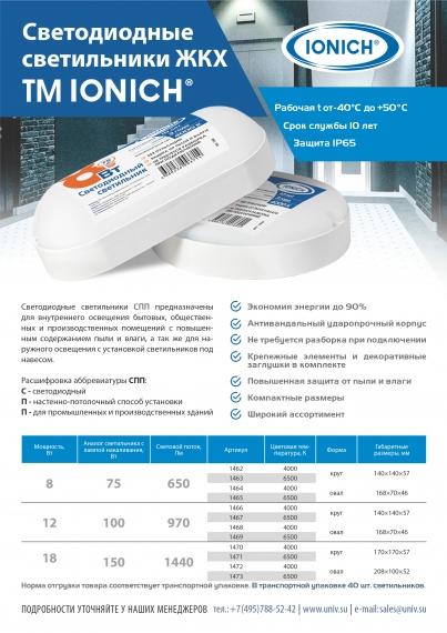 Светодиодные светильники ЖКХ TM IONICH